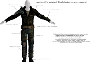 Fallout Wastelander armor concept art by redsteal21