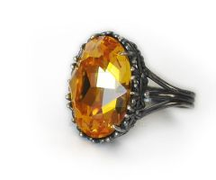 Yellow crystal ring by Aranwen