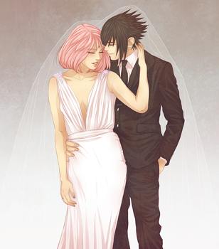 Mr and Mrs. Uchiha by DYMx