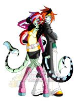 Arabell and Alistair - Monster High..OCs..? by Chibi-Warmonger