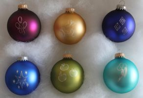 My Little Pony Christmas Ornaments by Yukizeal