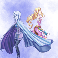 Skyward Sword -Fi and Zelda by ChocolaPeanut
