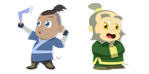 Avatar Chibis by hermit-homeboy