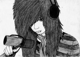Andy Sixx Drawing by b3oe
