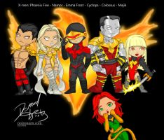 X-men: Phoenix Five by poizonazn