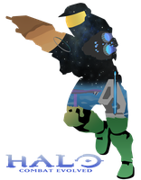Halo Combat Evolved - Master Chief Vector by firedragonmatty