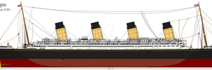 RMS Olympic Post War 1920 by Crystal-Eclair
