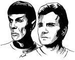 Spock and Kirk by ZacharyFeore