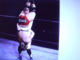 Woman wrestler tombstone piledrives a man! by fzero64