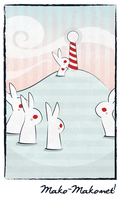 Bunny Card by nekofoot