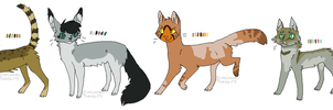 Cat adoptables 7 (CLOSED) by JocastaTheWeird
