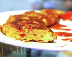 Tomatoes cooked thick eggs II by FWEI13