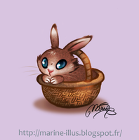 Easter rabbit by MarineElphie