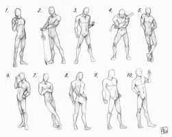 Pose Reference Male by artisticxhelp