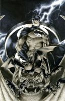 Batman on a Gargoyle by RichardCox