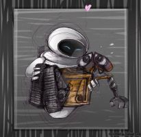 wall-e : robot love by CatusSnake