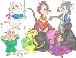 Brisby Family as Hippies by ThrillingRaccoon