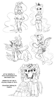 mlp anthro : style 2 doodles by NauticalSparrow