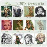 2013 Summary of Art by kiikii-sempai