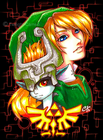 Link and Midna by Twilight-Cameo