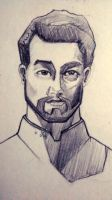 Male Portrait Study by LadyLanguid