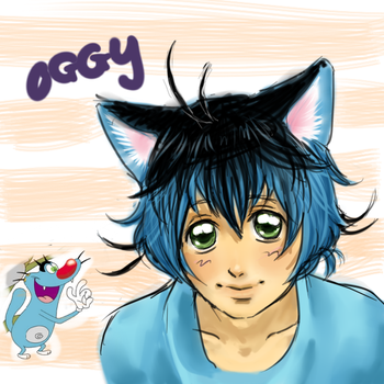Oggy and the Cockcroaches:Oggy by slouph