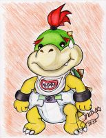 Diapered Bowser Jr by shimiri
