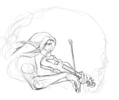 Roma and his Violin derpsketch by kryz-flavored