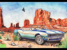 1967 Chevy Camaro Convertible by FastLaneIllustration