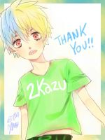 THANKS FOR THE 2K! by deaeru