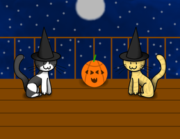 Halloween Kitties by TheLimeTangerine