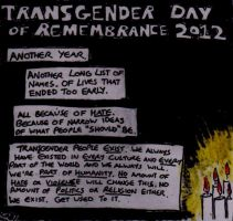Transgender Day of Remembrance 2012 by PekoeBlaze