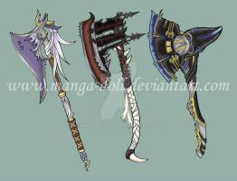 Axes by Manga-doll