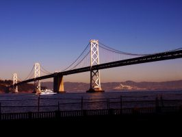 San Francisco Oakland Bay Bridge 03 by abelamario