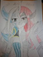 Mirajane VS Erza of Fairy Tail by Lucy-Heartfilia100