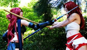 Confrontation - Erza Knightwalker by YuyuCosplay