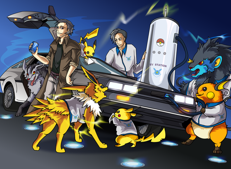 DMCEV with Electric Pokemon by Belldia