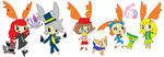 Mari, jowee, Heather, Wilfre and Circi as gym lead by Aquanity505