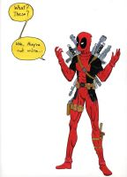 Deadpool with Weapons by themaskgallery