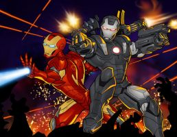 WarMachine and IronMan by gelipe