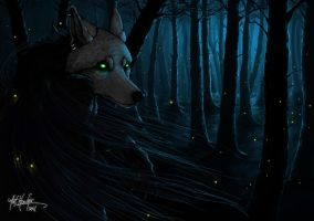 Solaria - Forest and Fireflies by Mist-Howler