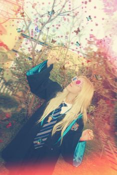 Chasing Wrackspurts and Butterflies,Luna Lovegood by MissWeirdCat