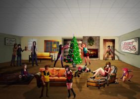 Biggest Xmas Collab 2012 by villamar