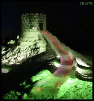 Glowing Ice Slide by sculptin