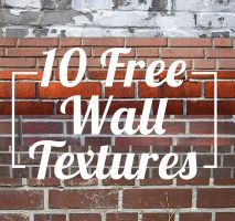 10 Free Wall (Brick) Textures by Kavioli