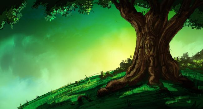 OneHourSketch02 Ambiancerapidetree by StefPoi3