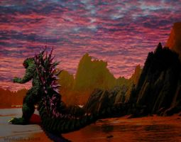 Godzilla on Monster Island by WoGzilla