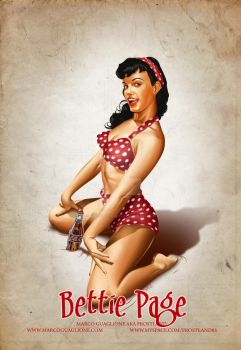 Bettie Page Classic Style by MarcoGuaglione