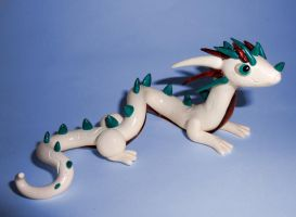 White Eastern Dragon by ByToothAndClaw