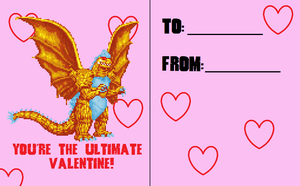 Valentines Day Card 2014 3/6 by Burninggodzillalord